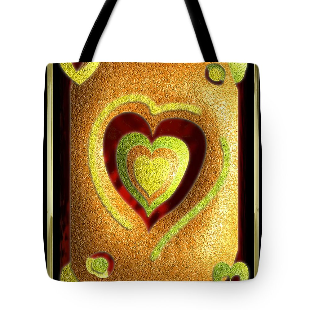 Love Tote Bag featuring the digital art Love Of Fruit And Jello by Michael Hurwitz