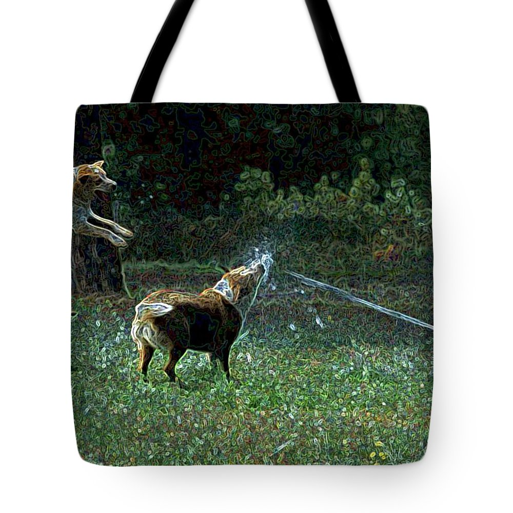 Austalian Cattle Dog Tote Bag featuring the photograph Love To Play by One Rude Dawg Orcutt