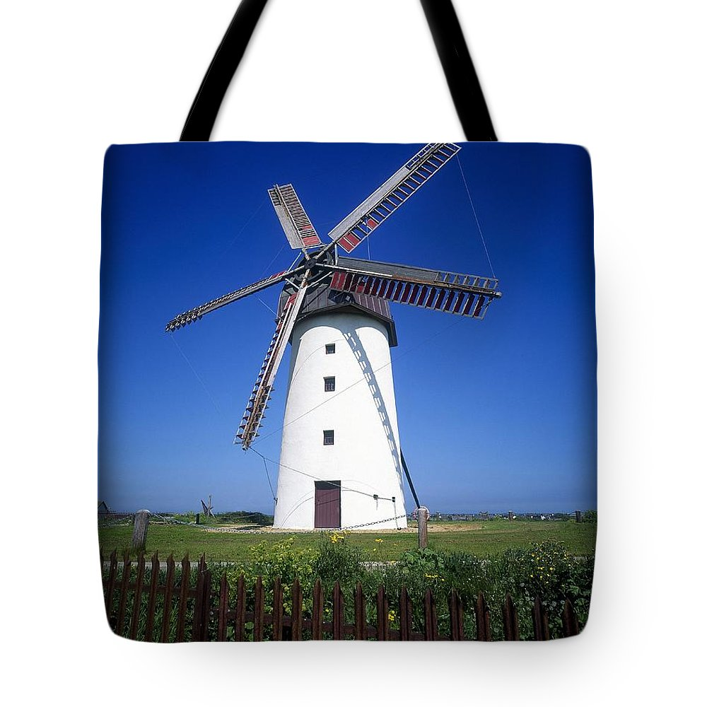 Alternative Energy Tote Bag featuring the photograph Low Angle View Of A Traditional by The Irish Image Collection