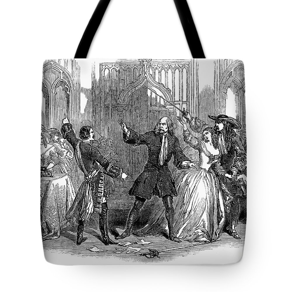 1847 Tote Bag featuring the photograph Lucia Di Lammermoor, 1847 by Granger