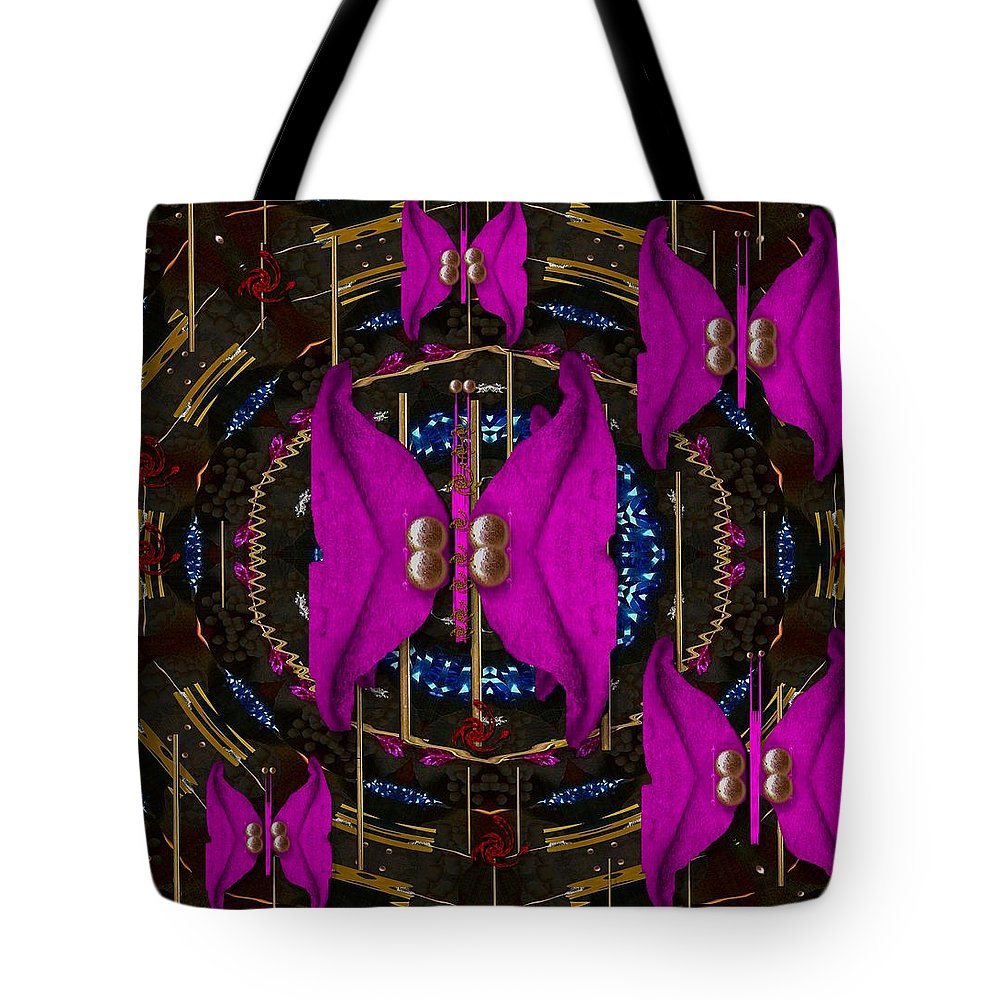 Landscape Tote Bag featuring the mixed media Lucky Day In Asian Style by Pepita Selles