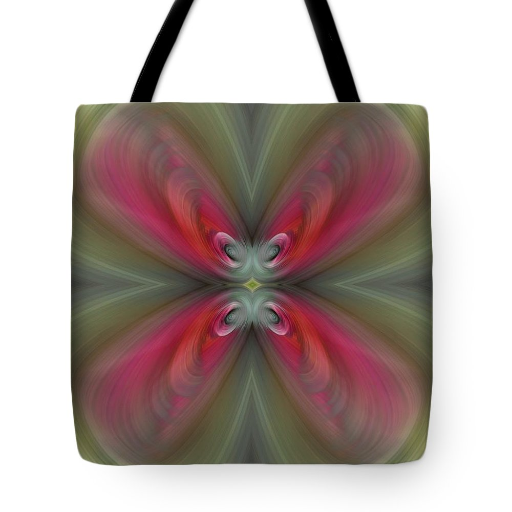 Abstract Tote Bag featuring the digital art Lucky You by Tim Allen