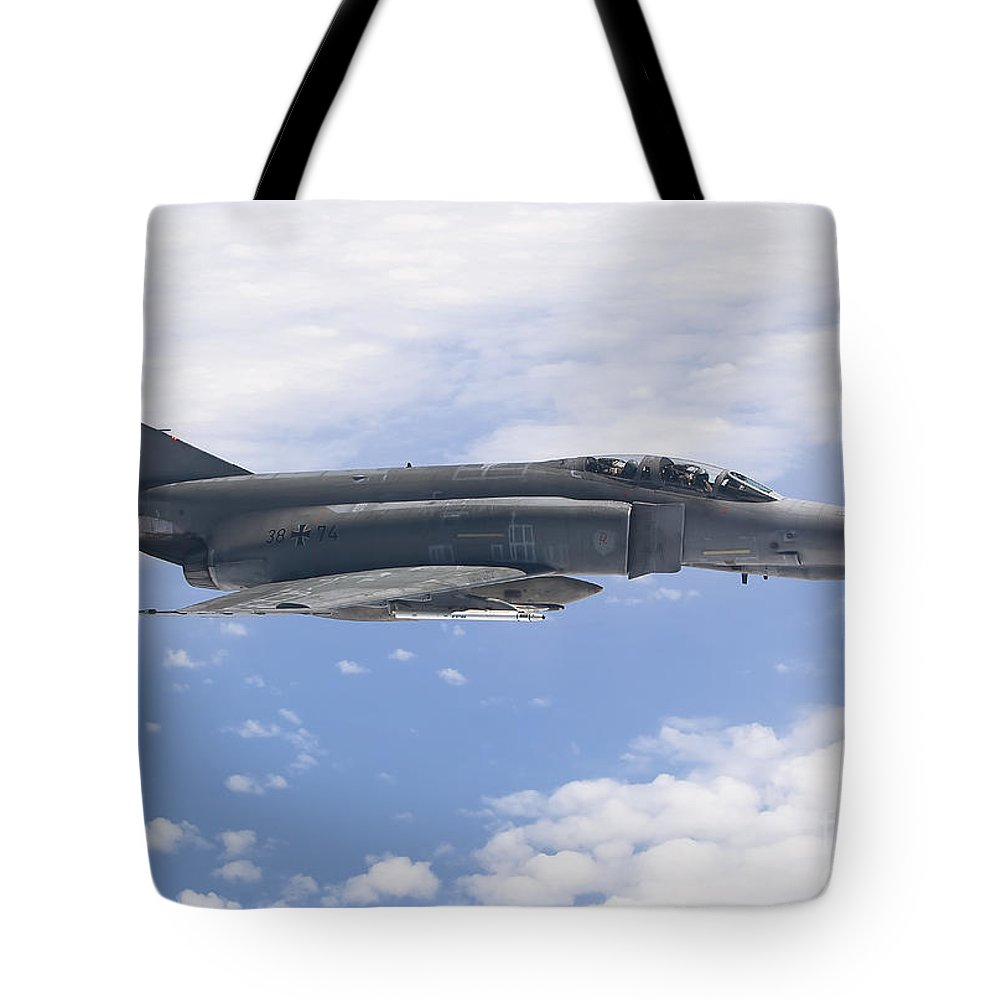 Germany Tote Bag featuring the photograph Lufwaffe F-4f Phantom by Gert Kromhout