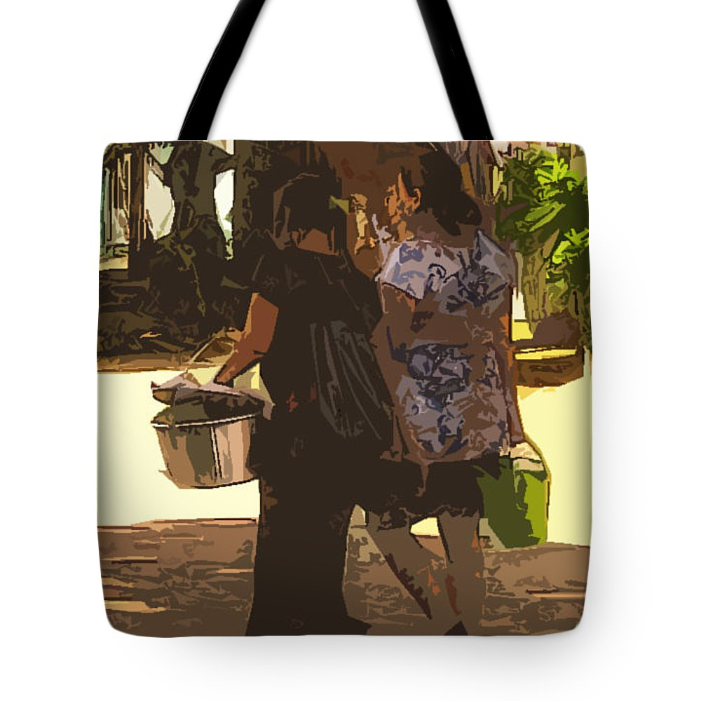 Neigborhood Tote Bag featuring the photograph Lunch Time by Lydia Holly