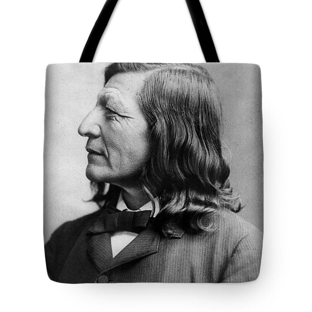 1891 Tote Bag featuring the photograph Luther Standing Bear by Granger