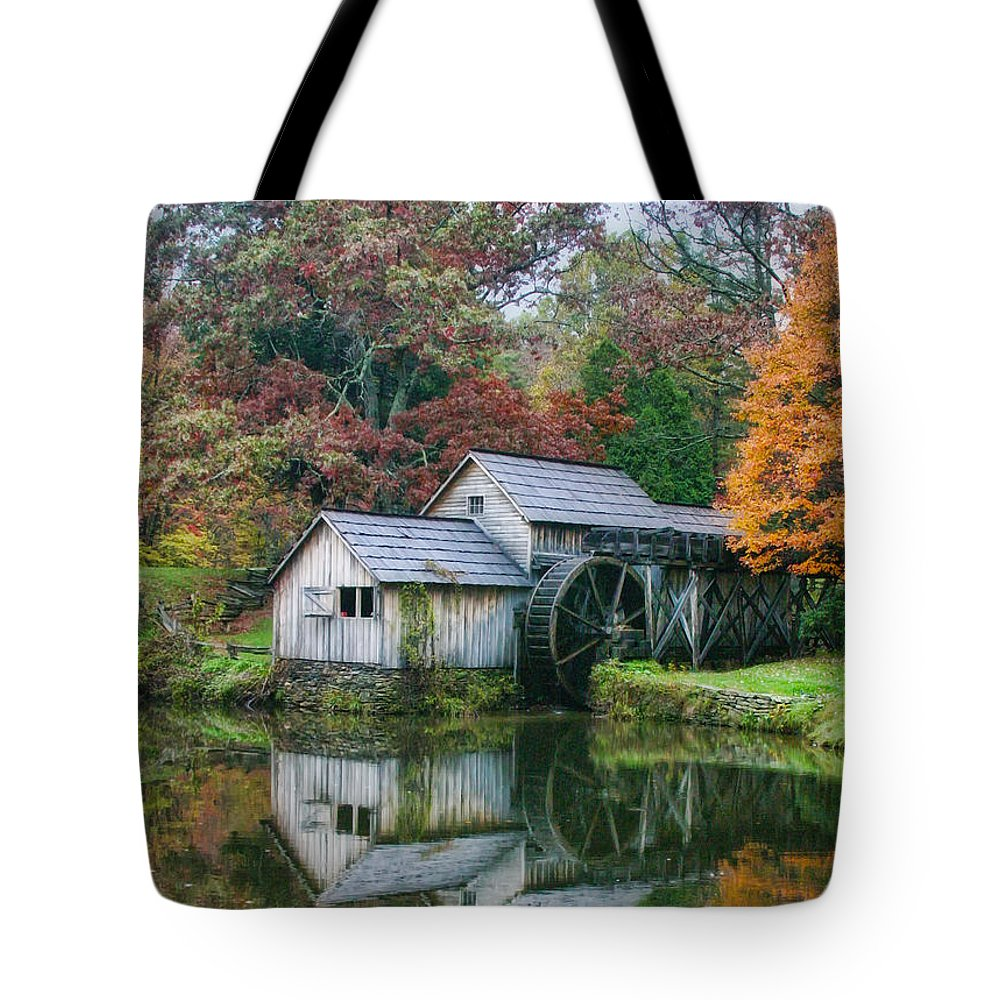 Mill Tote Bag featuring the photograph Mabry Mill by Joan Bertucci
