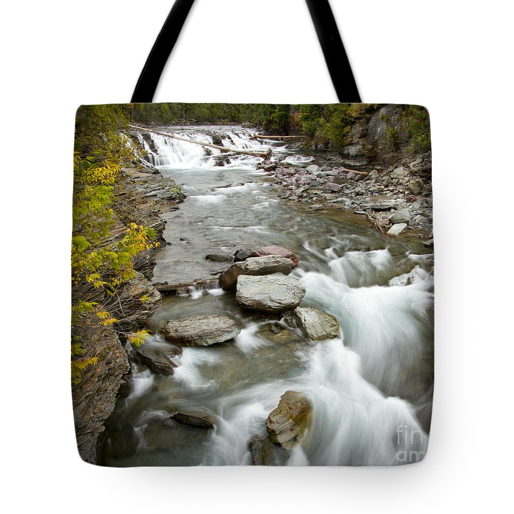 Glacier National Park Tote Bag featuring the photograph Macdonald Creek by Idaho Scenic Images Linda Lantzy
