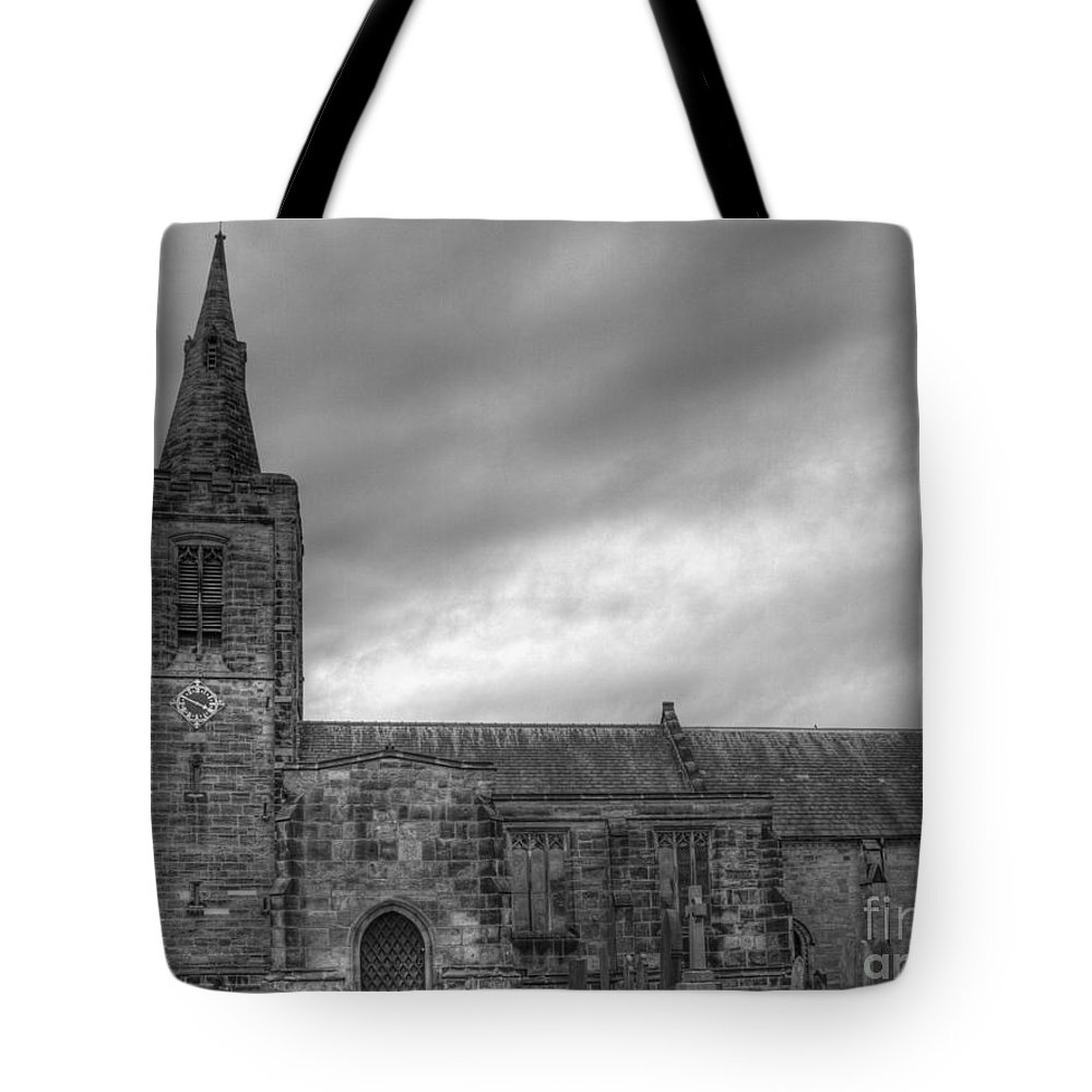 Church Tote Bag featuring the photograph Mackworth Church by Steev Stamford