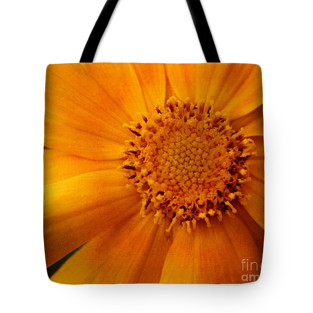 Flower Tote Bag featuring the photograph Macro Flower by Smilin Eyes Treasures