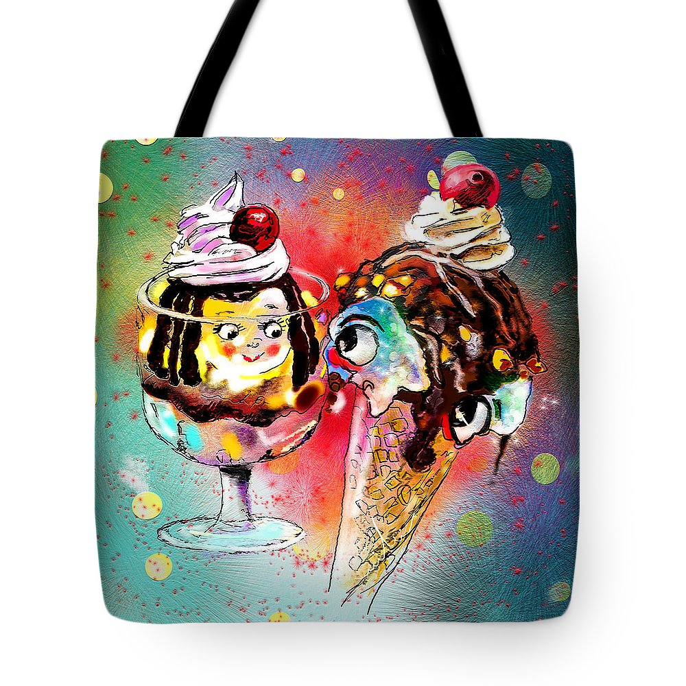 Ice Cream Tote Bag featuring the digital art Made For Each Other by Miki De Goodaboom