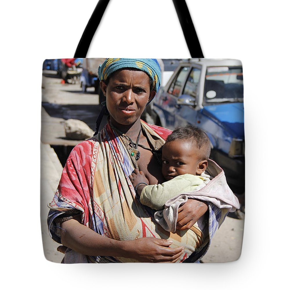 Mother Tote Bag featuring the painting Madonna Of Addis Ababa by Robert SORENSEN