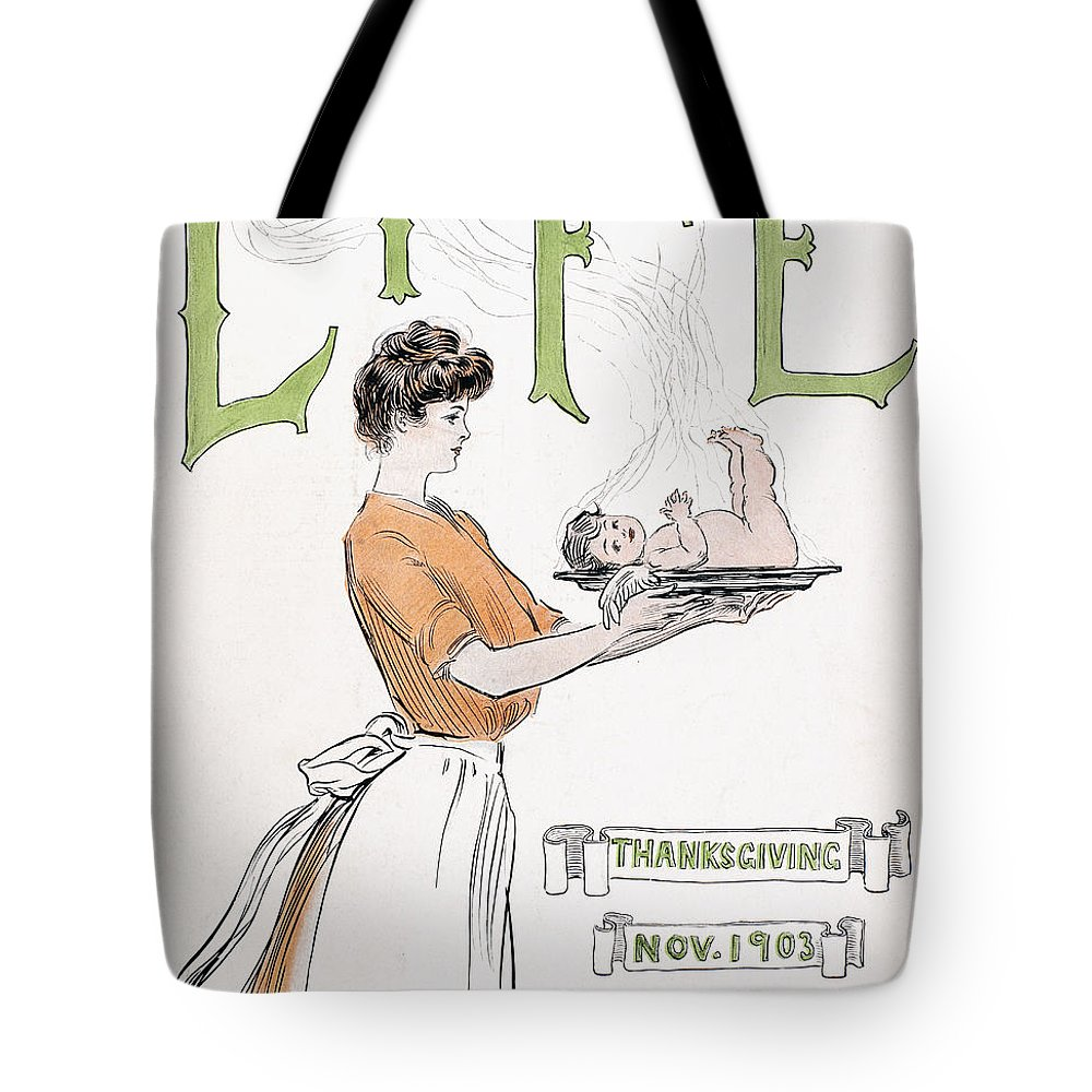 1903 Tote Bag featuring the photograph Magazine: Life, 1903 by Granger