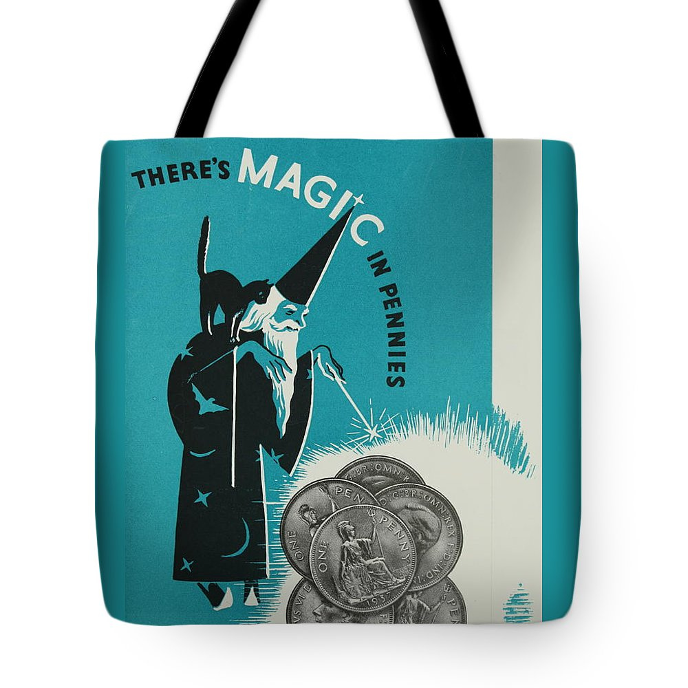 Coins Tote Bag featuring the photograph Magic In Pennies by Robert Harris