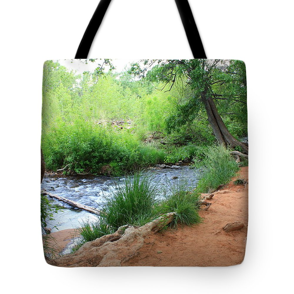 Arizona Landscape Tote Bag featuring the photograph Magical Trees At Red Rock Crossing by Carol Groenen