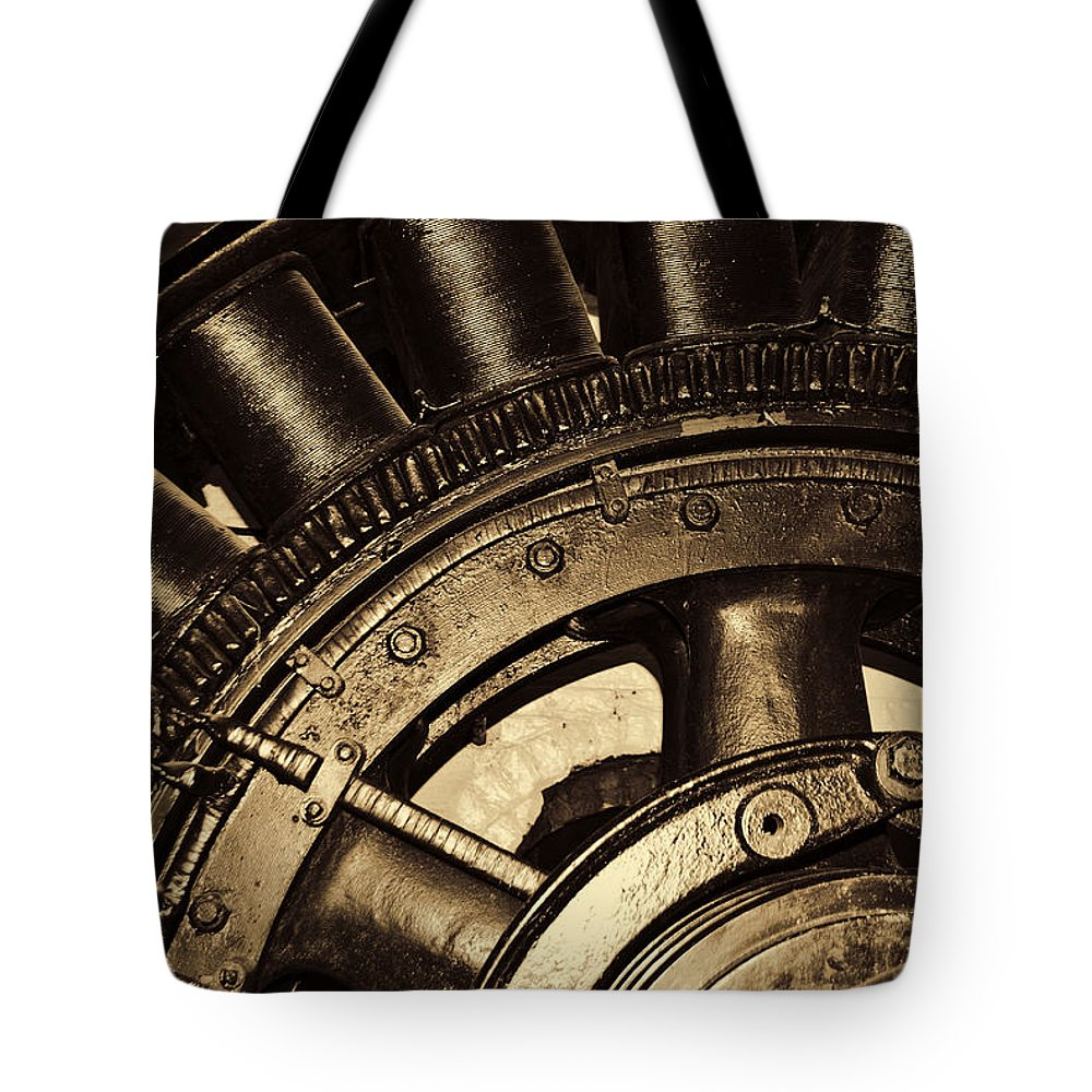 Wheel Tote Bag featuring the photograph Main Generator Wheel by Diego Re