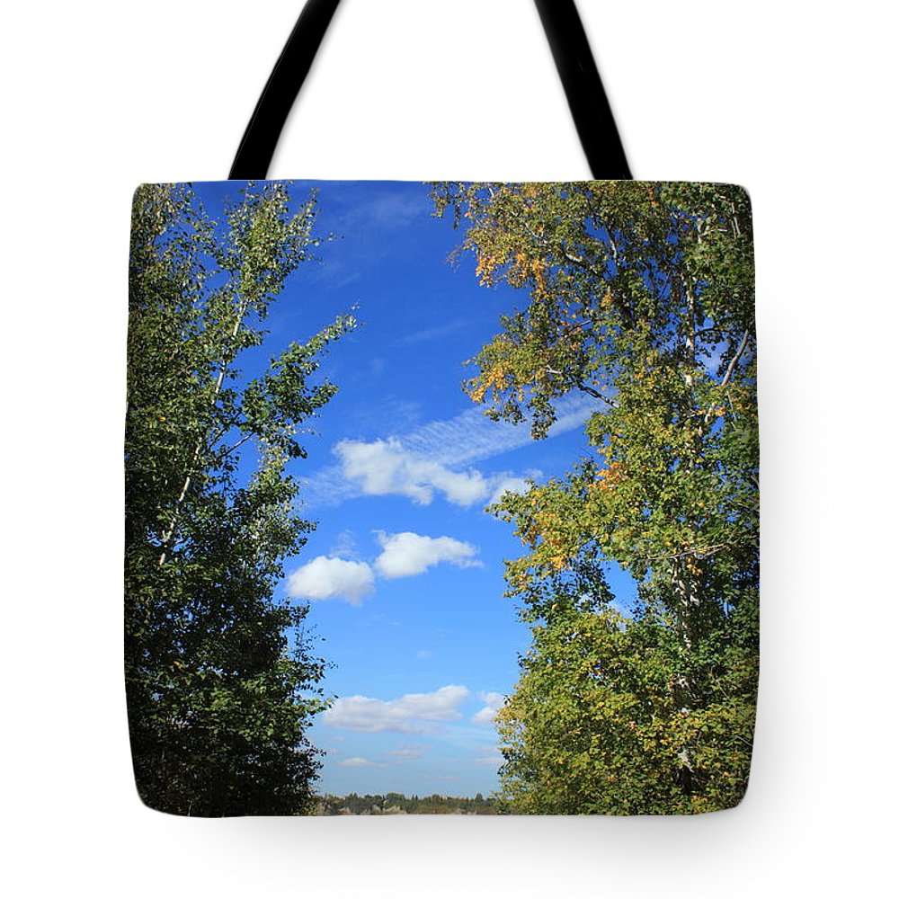 Trees Tote Bag featuring the photograph Majestic Beauty by Jim Sauchyn