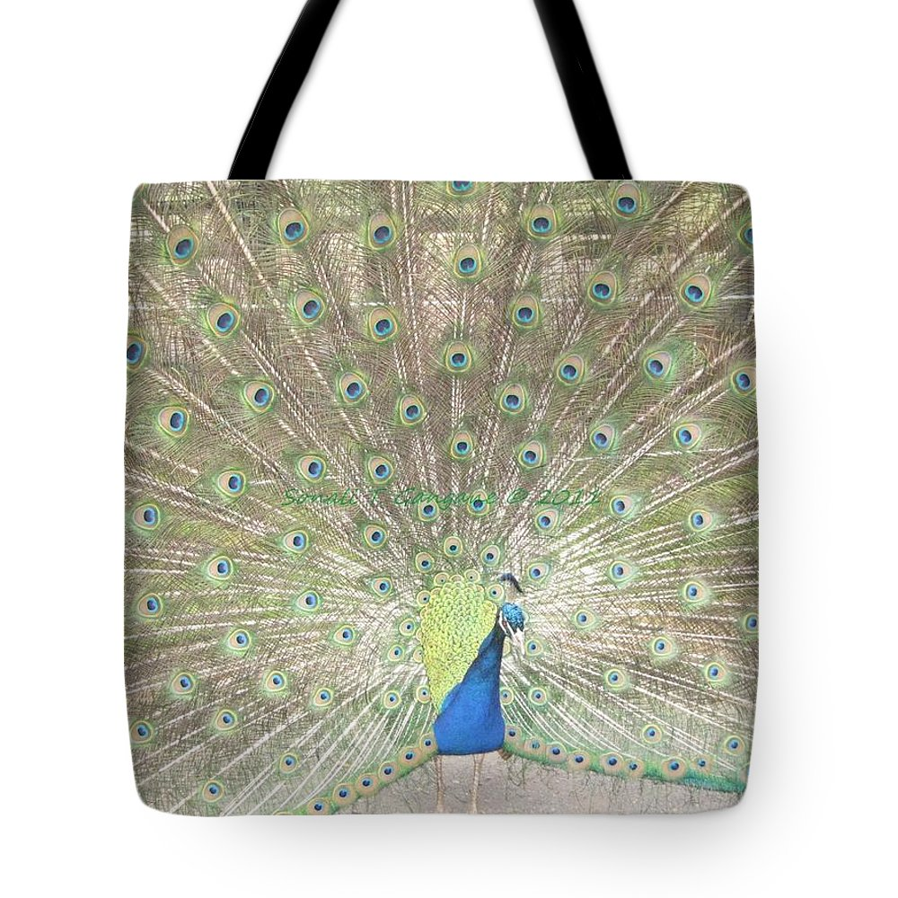 Colourful Tote Bag featuring the photograph Majestic Peacock by Sonali Gangane
