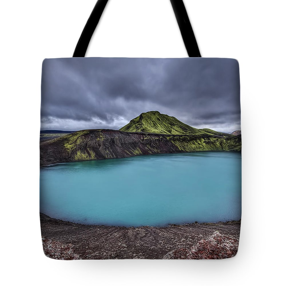 Hnausapollur Tote Bag featuring the photograph Majesty Of The Lake by Evelina Kremsdorf