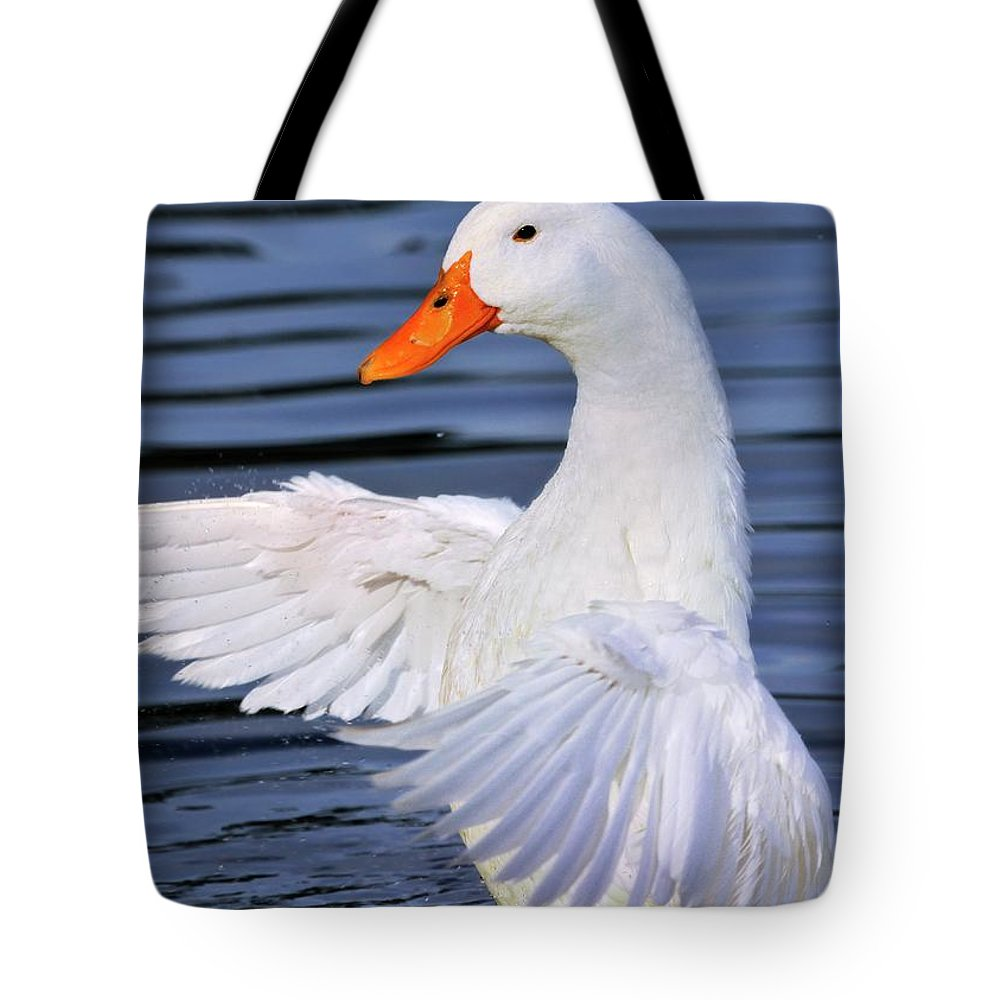 White Tote Bag featuring the photograph Make A Joyful Noise by Bill Dodsworth