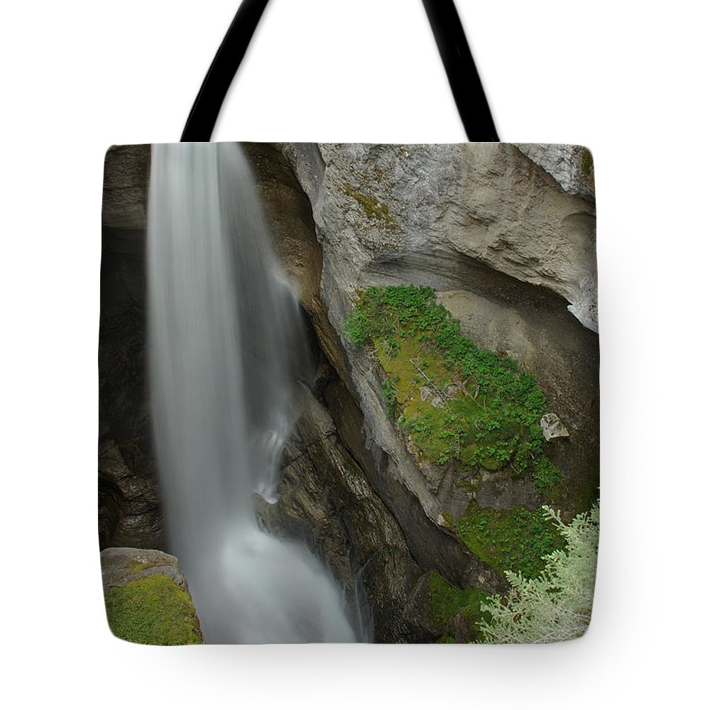 Maligne Canyon Tote Bag featuring the photograph Maligne Canyon 2 by Robert Caddy