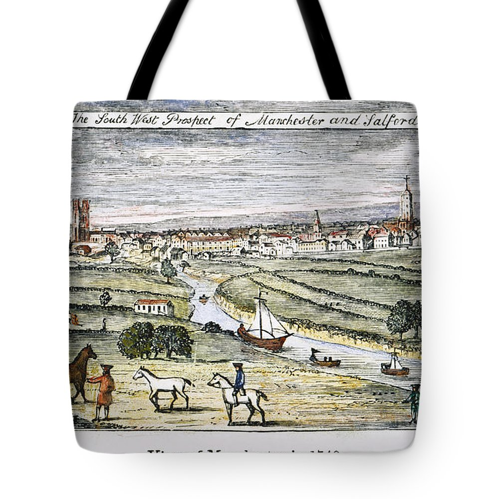 1740 Tote Bag featuring the photograph Manchester, England, 1740 by Granger