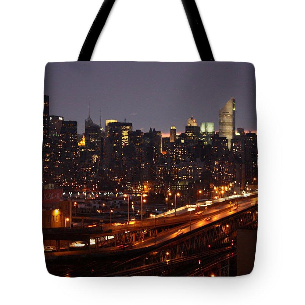 Manhattan Tote Bag featuring the photograph Manhattan- 2 by Mark Ashkenazi