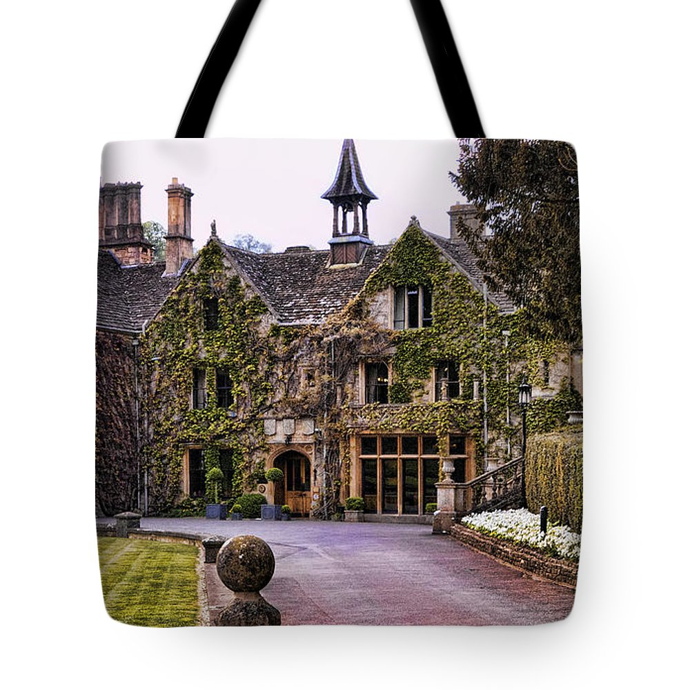 Castle Combe Tote Bag featuring the photograph Manor House At Castle Combe by Jon Berghoff