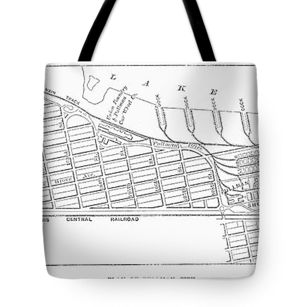 1885 Tote Bag featuring the photograph Map: Pullman, C1885 by Granger