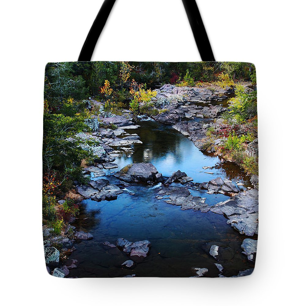 Marble Creek Tote Bag featuring the photograph Marble Creek 2 by Greg Matchick
