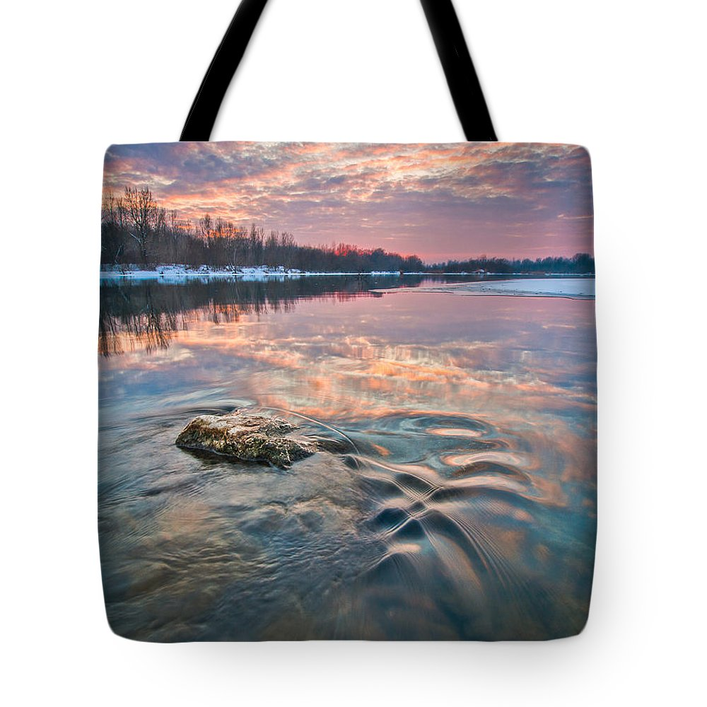 Landscape Tote Bag featuring the photograph Marble Sky by Davorin Mance