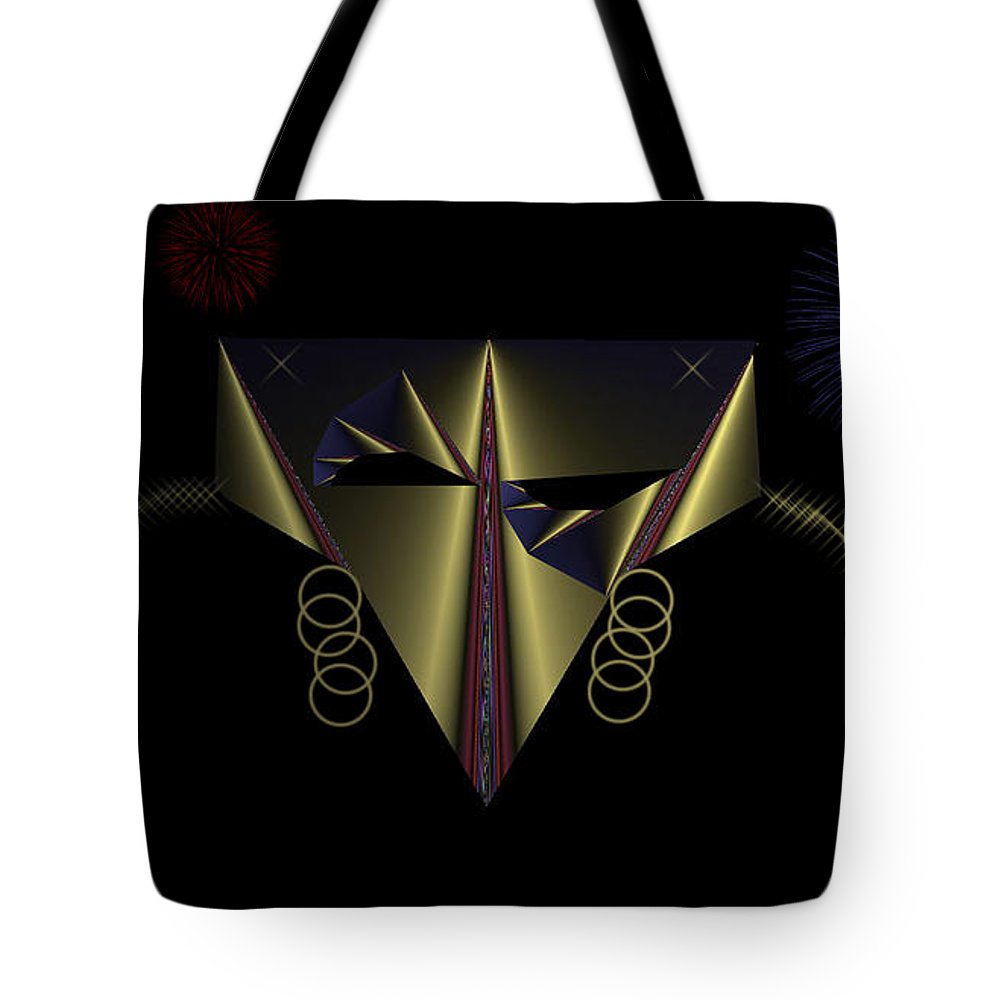 Mask Tote Bag featuring the digital art Mardi Gras Mask 2 by Ericamaxine Price