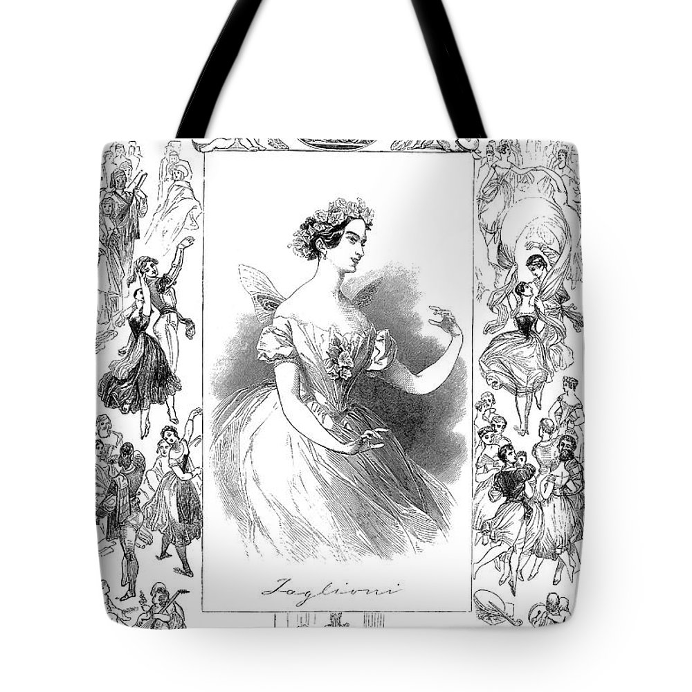 1845 Tote Bag featuring the photograph Marie Taglioni (1804-1884) by Granger