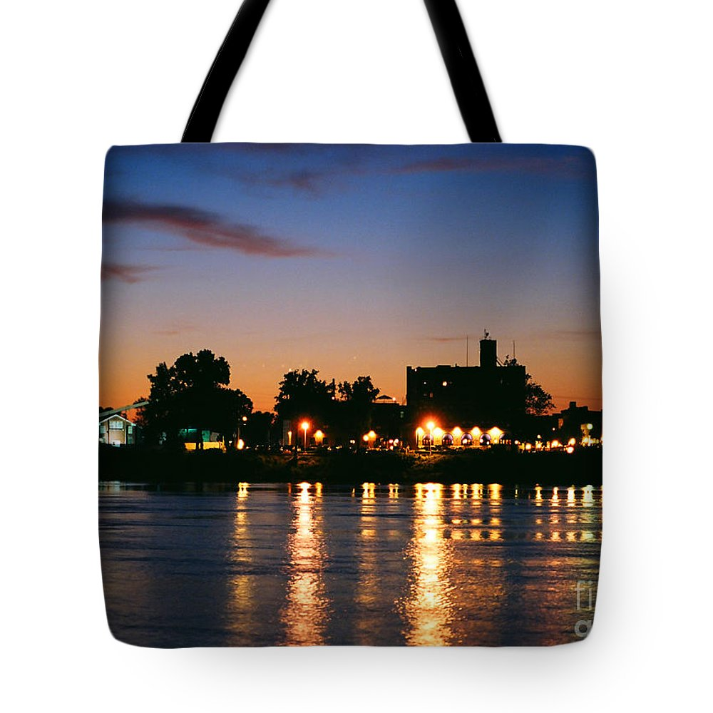 Marietta Tote Bag featuring the photograph Marietta Lights by Amanda Jones