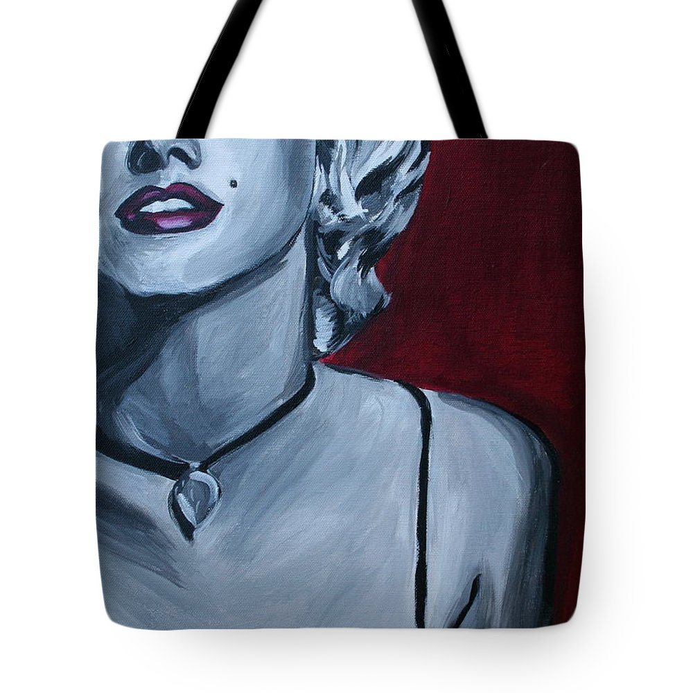 Marilyn Monroe Tote Bag featuring the painting Marilyn Monroe by Kate Fortin