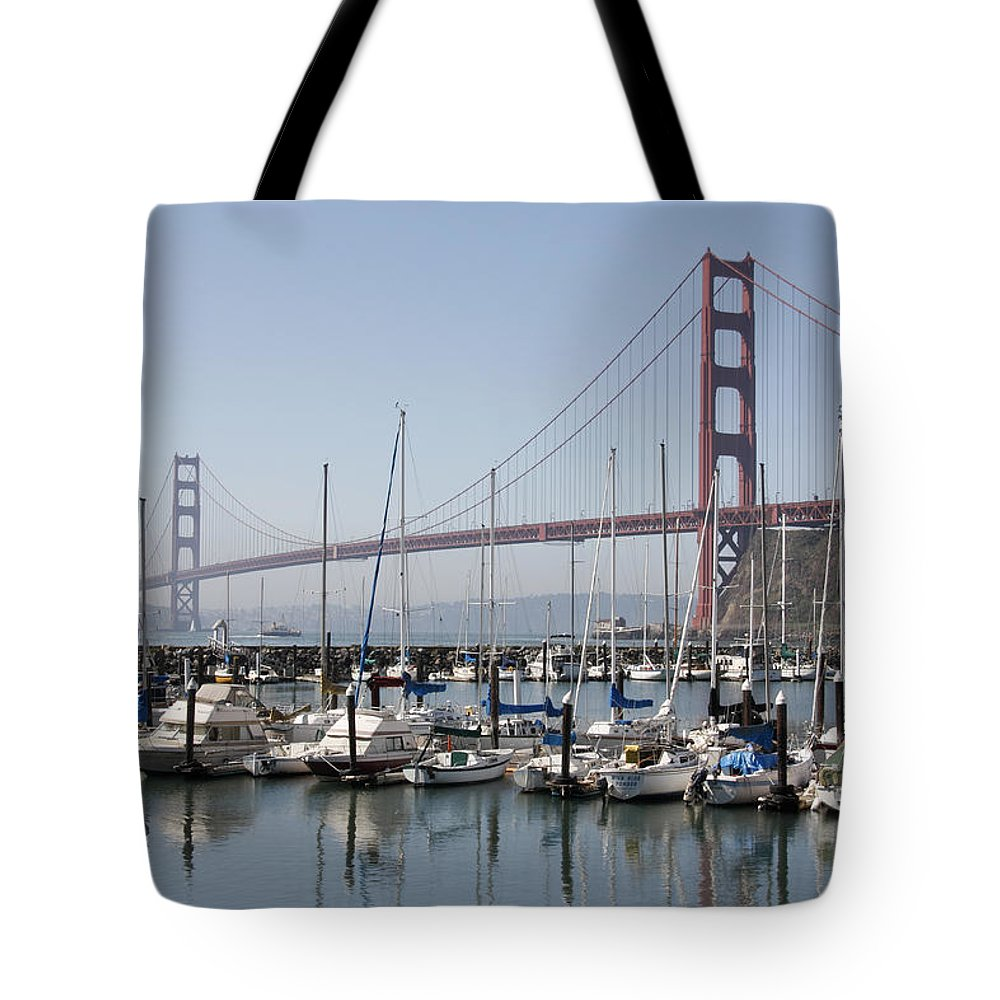 Marina At Golden Gate Tote Bag featuring the photograph Marina At Golden Gate by Wes and Dotty Weber
