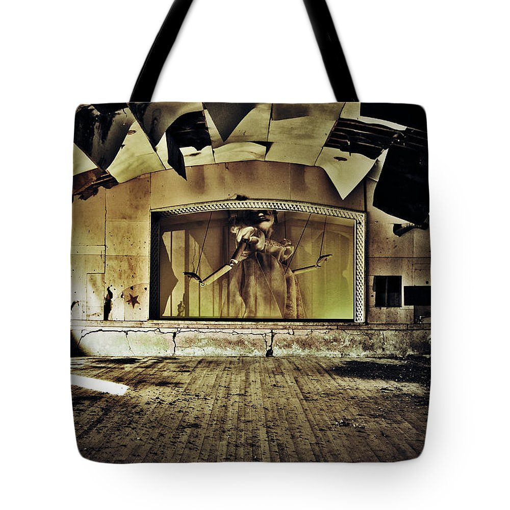 Street Photographer Tote Bag featuring the photograph Marionette Moment by The Artist Project