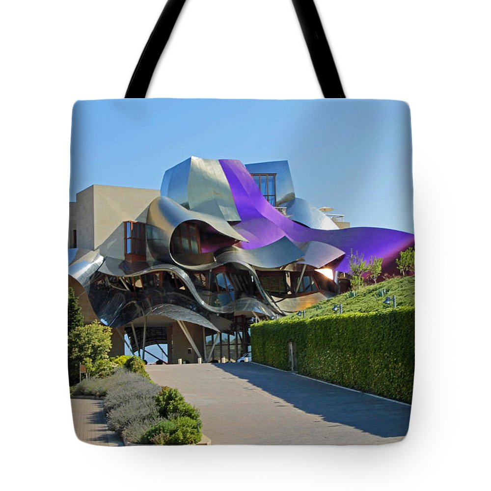 Building Tote Bag featuring the photograph Marques De Riscal Winery Spain by John Stuart Webbstock
