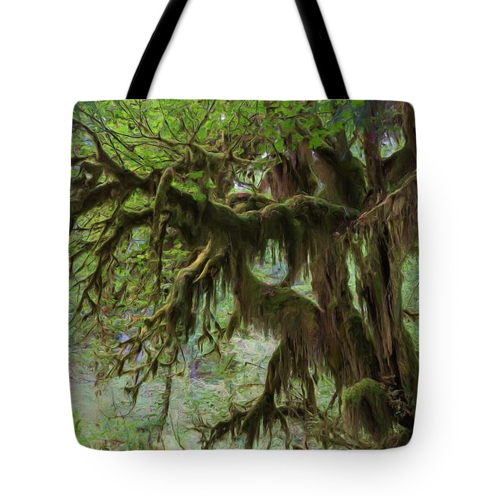 Hall Of Mosses Tote Bag featuring the photograph Marvelous Moss by Heidi Smith