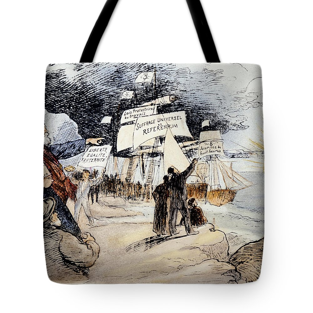 1891 Tote Bag featuring the photograph Marxism, C1891 by Granger