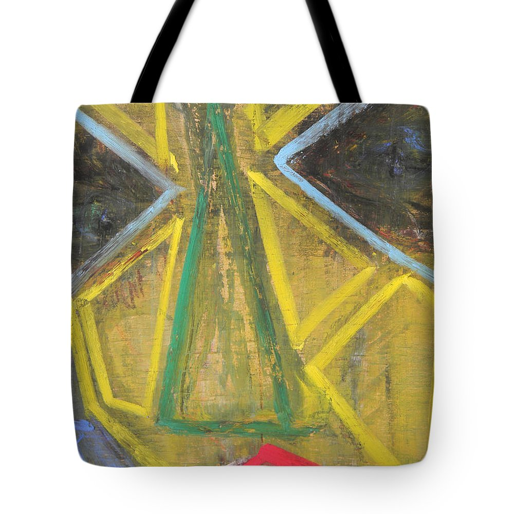 Woman Tote Bag featuring the painting Masked by Marwan George Khoury