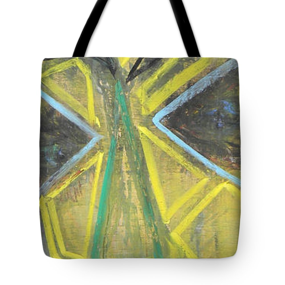 Woman Tote Bag featuring the painting Masked The Original by Marwan George Khoury