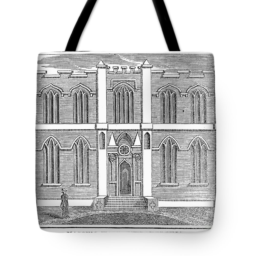 1830 Tote Bag featuring the photograph Masonic Hall, C1830 by Granger