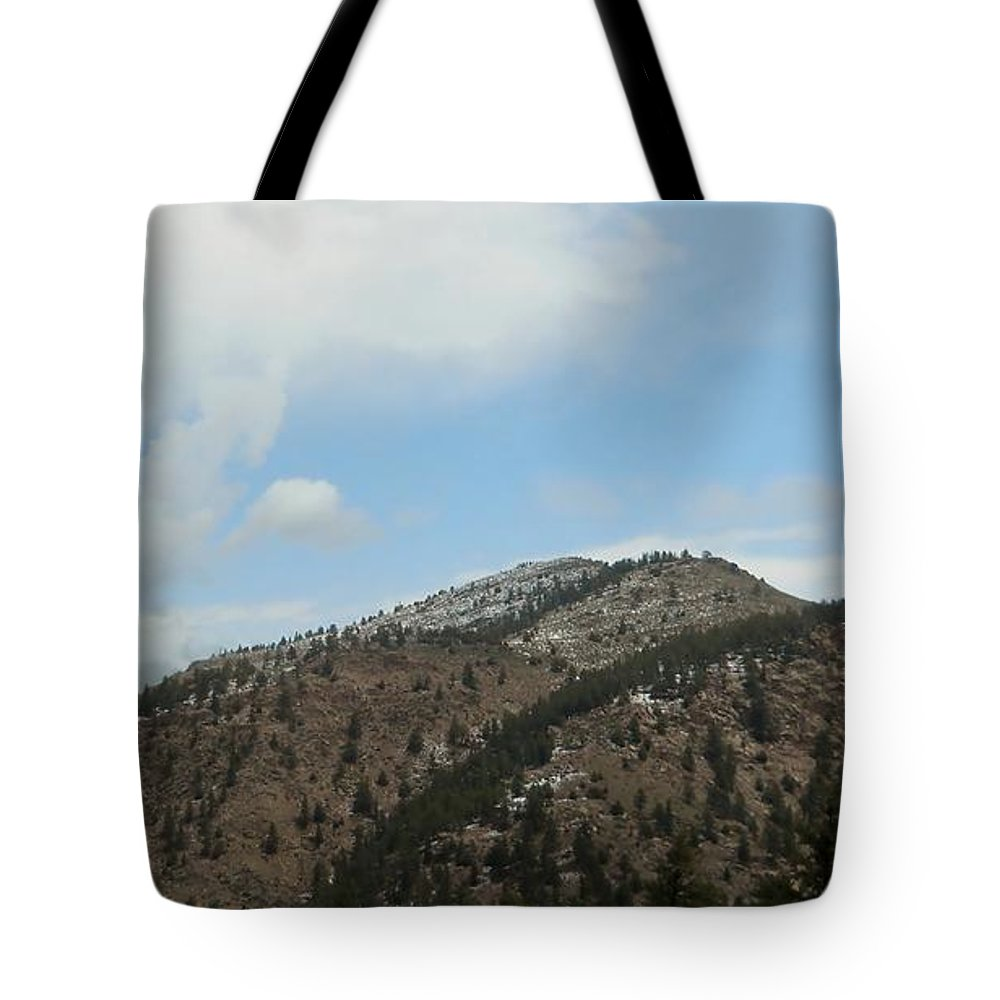 Snow Tote Bag featuring the photograph May In The Rockies by Judy Hall-Folde