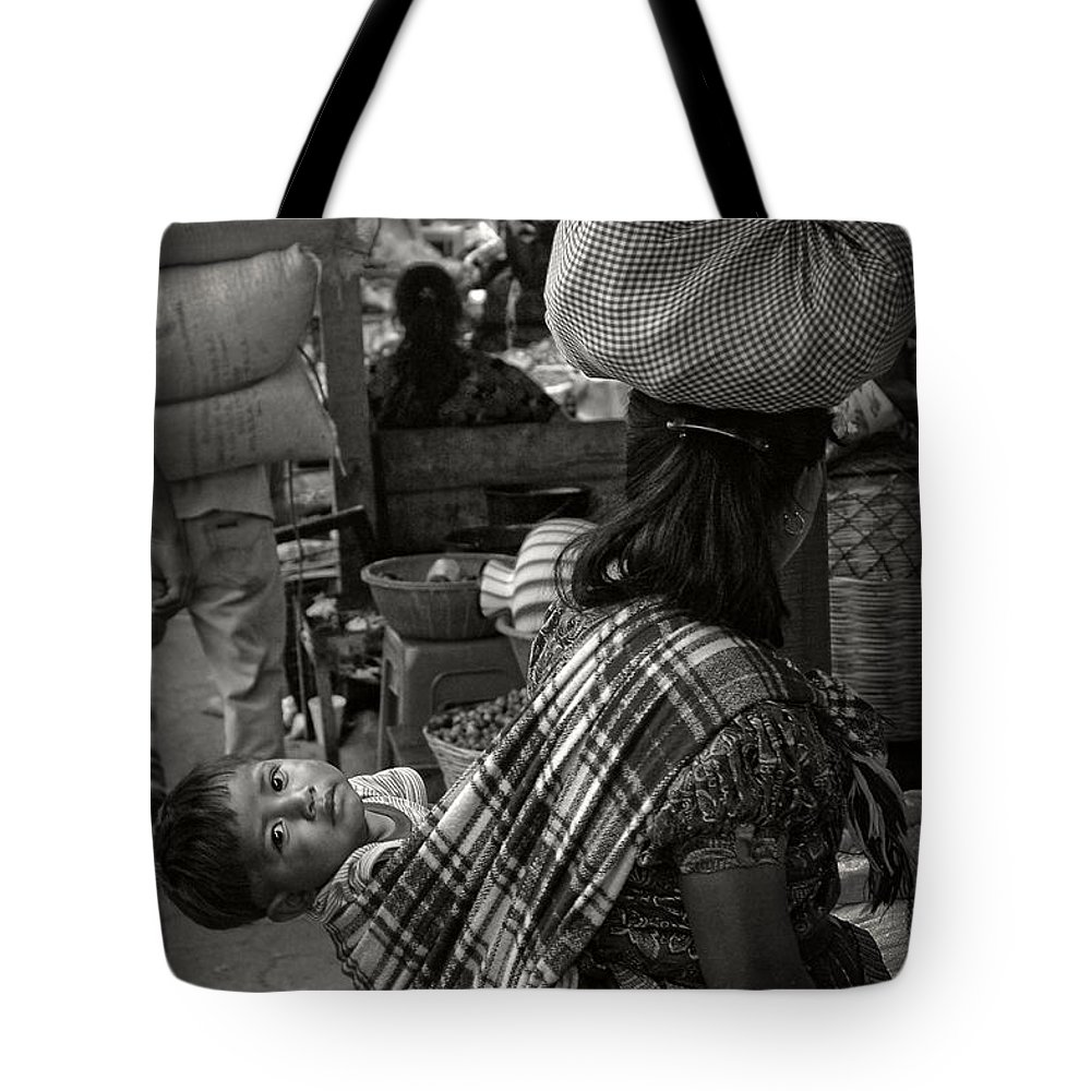 Mayan Indian Tote Bag featuring the photograph Mayan Child by Tom Bell