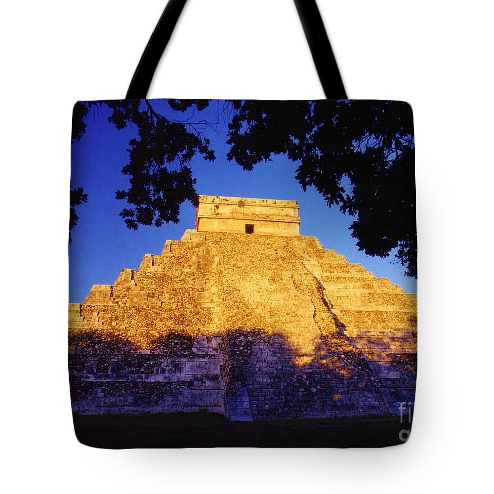 Chichen Itza Tote Bag featuring the photograph Mayan Pyramid by John Malone