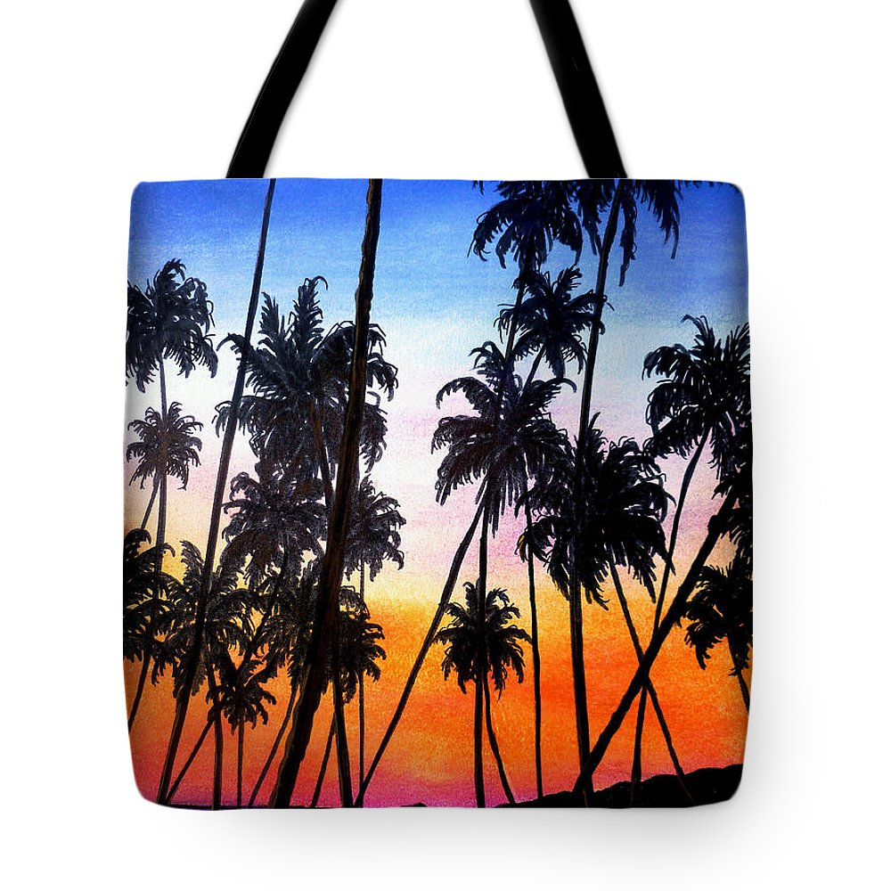 Tropical Tote Bag featuring the pastel Mayaro Red Dawn by Karin Dawn Kelshall- Best