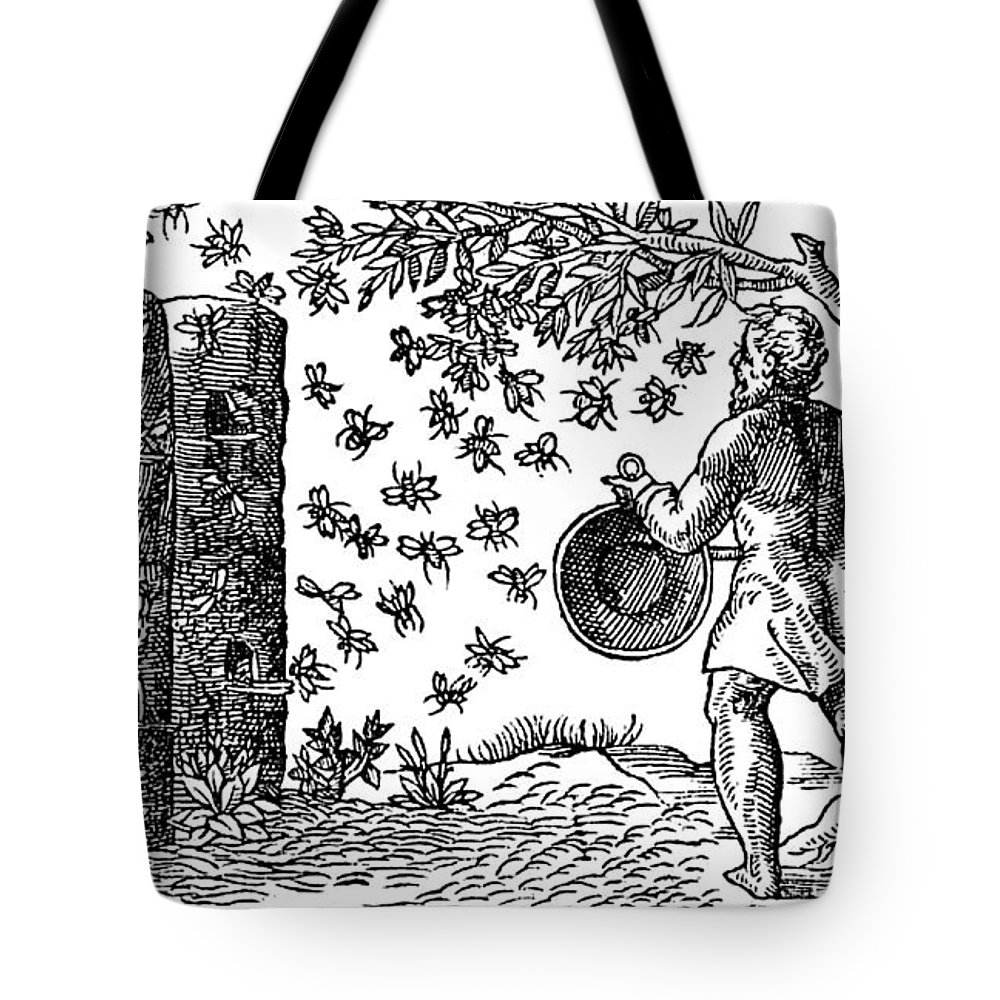 Agriculture Tote Bag featuring the photograph Medieval Apiary by Science Source