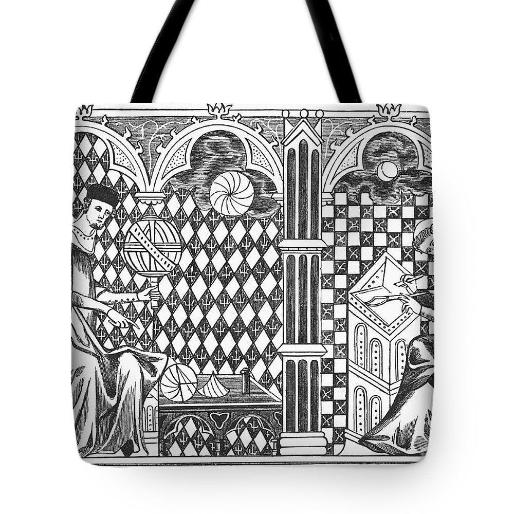 13th Century Tote Bag featuring the photograph Medieval Mathematicians by Granger