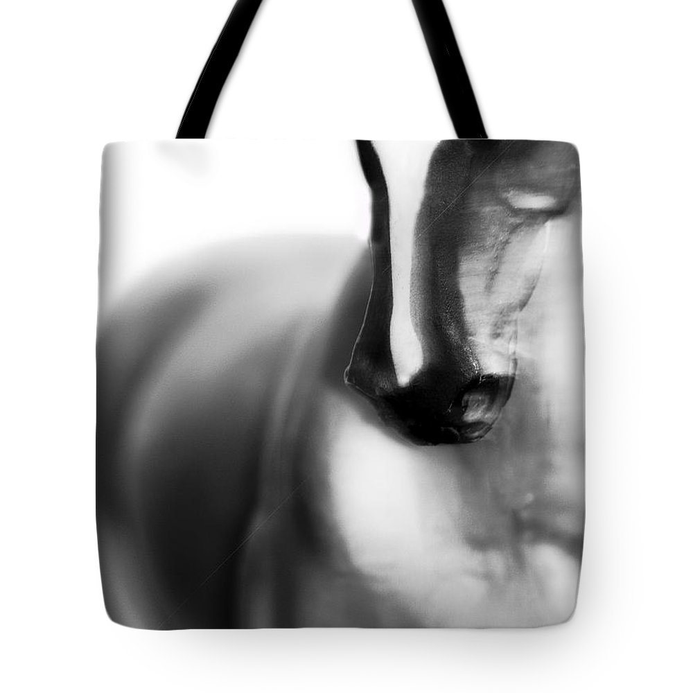 Horse Tote Bag featuring the digital art Meg by Betsy Knapp
