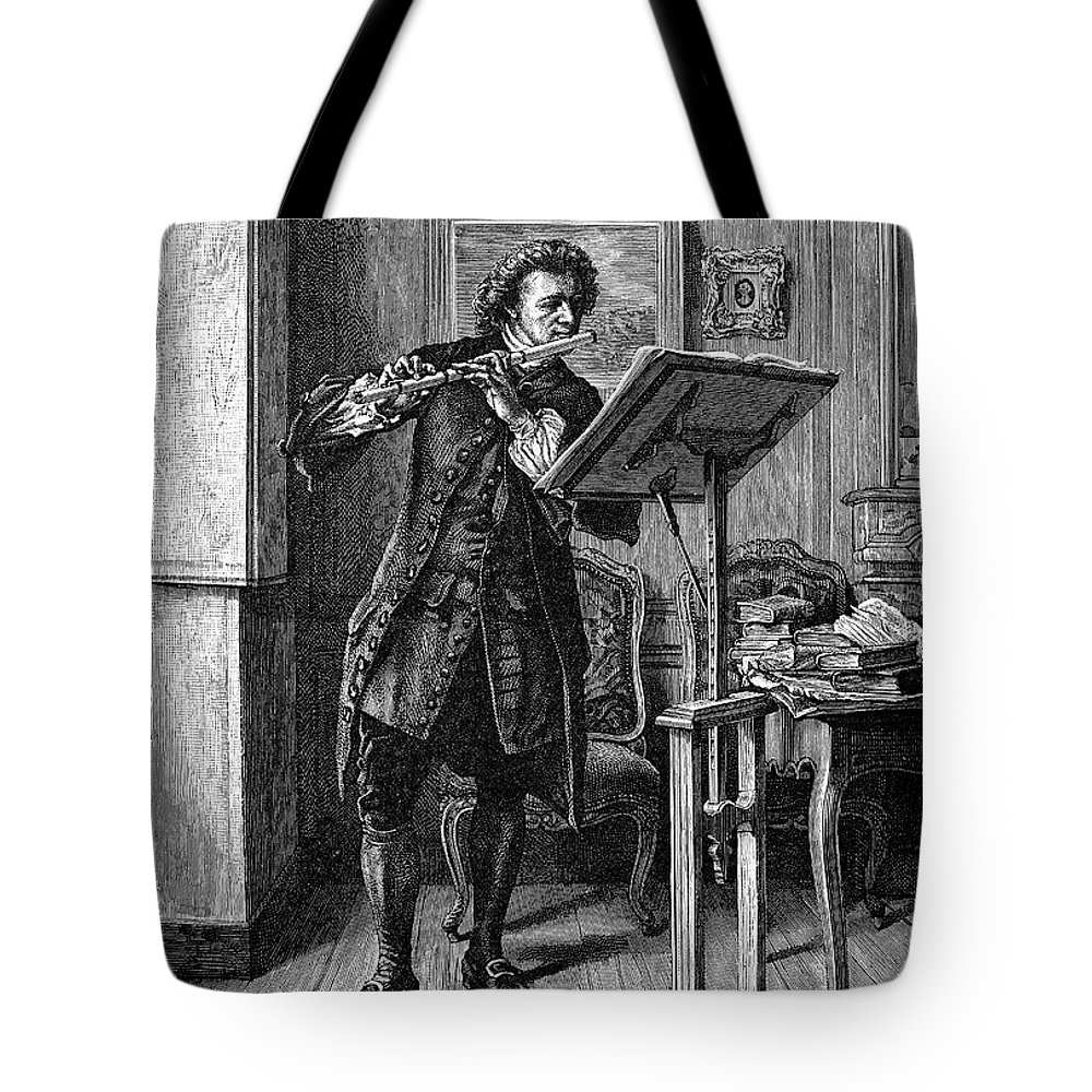 1879 Tote Bag featuring the photograph Meissonier: Flute Player by Granger